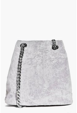 Maria Crushed Velvet Chain Cross Body Bag
