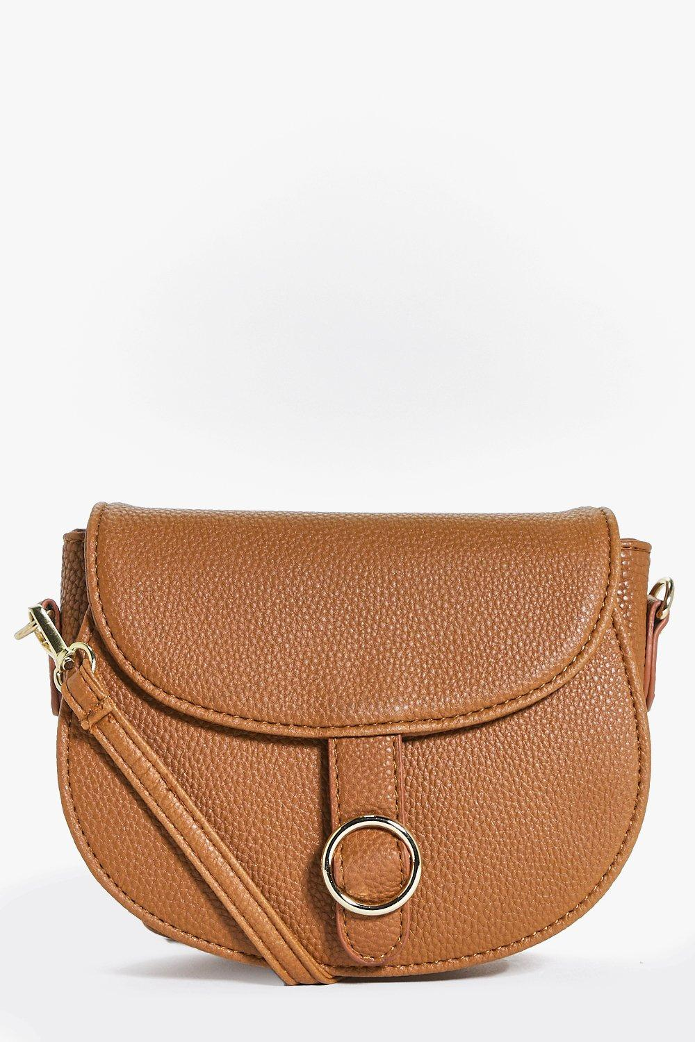 Circle Detail Saddle Bag - tan