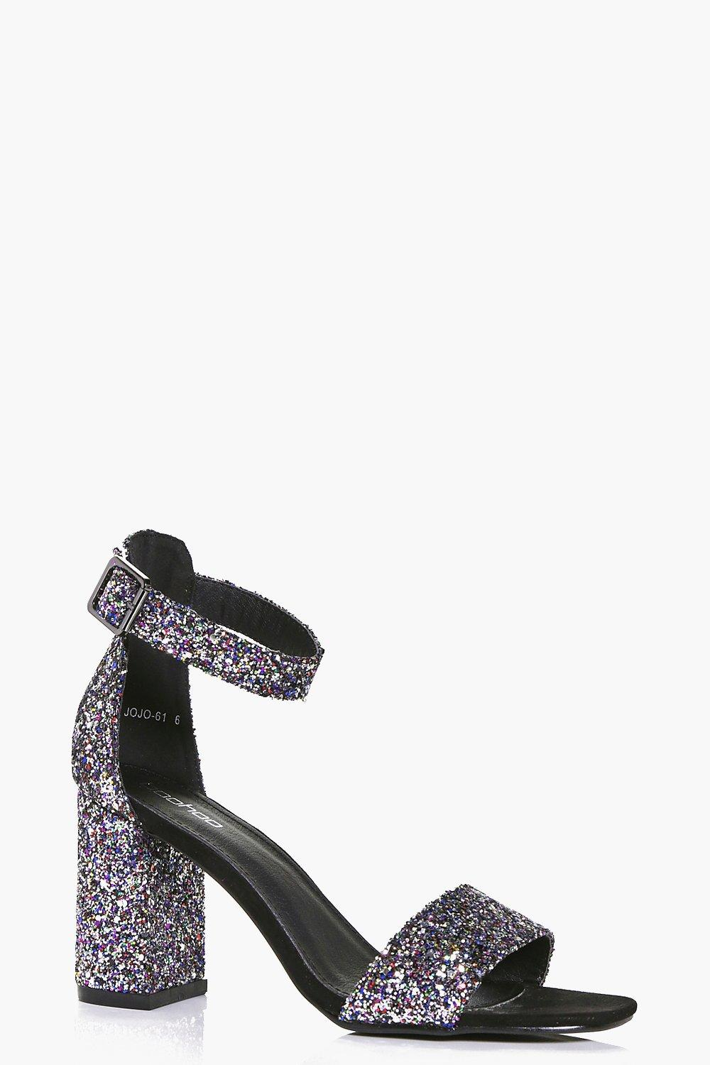 Lily Block Heel Glitter Two Part