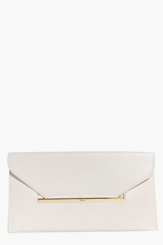 Freya Metal Slot Envelope Clutch Bag