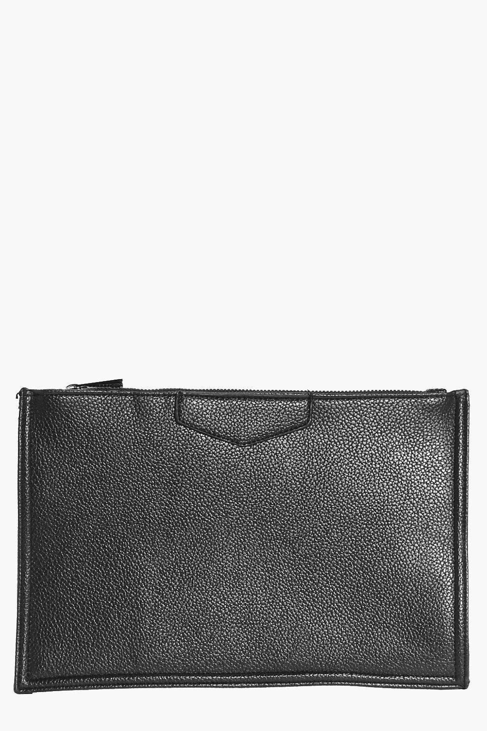 Evie Tab Detail Travel Pouch Clutch Bag