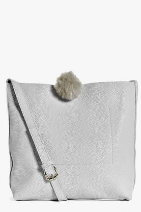 Lucy Faux Fur Pom Modern Shopper