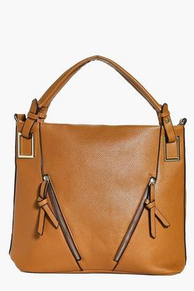 Daisy Zip Front Detail Shoulder Day Bag