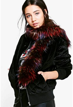 Ruby Tipped Faux Fur Scarf