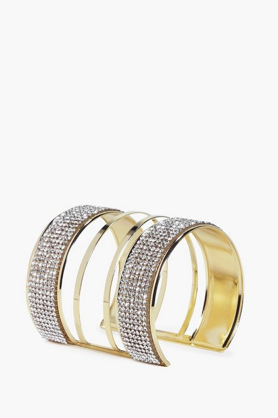 Mia Thick Diamante Cut Out Cuff