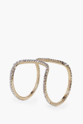 Isla Cut Out Double Layer Diamante Cuff