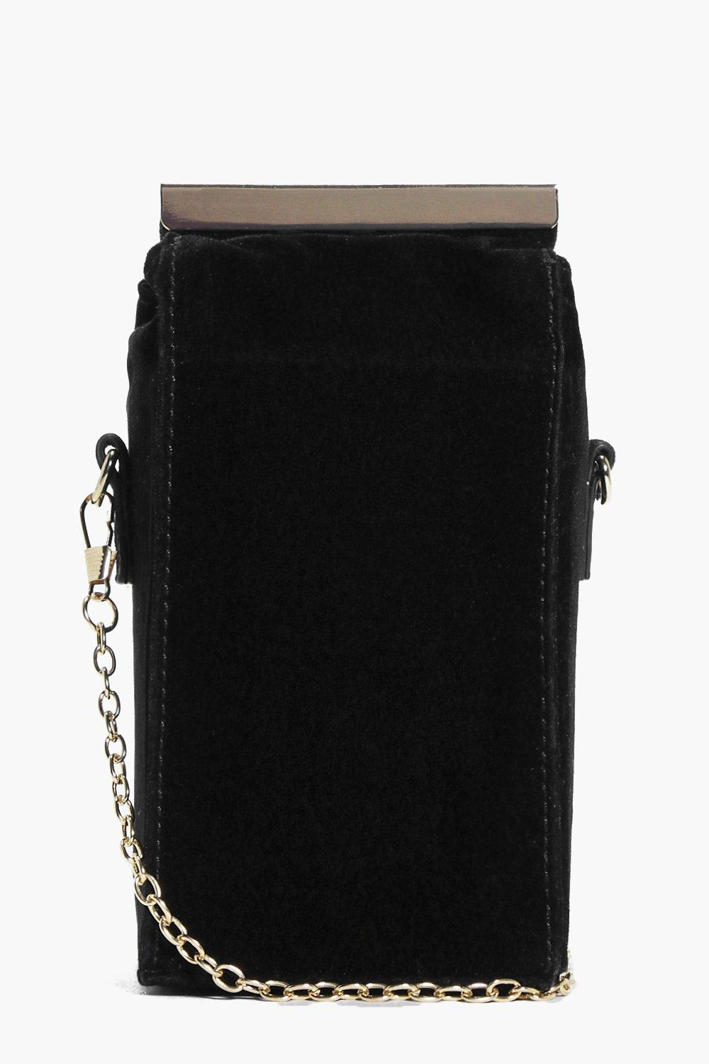 Ella Milk Carton Velvet Cross Body Bag