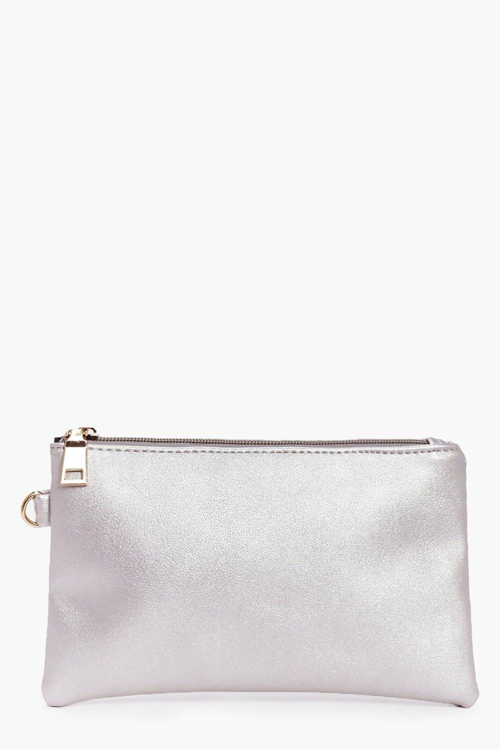 Zip Top Metallic Make Up Bag