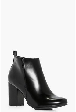 Daisy Hi Shine Block Heel Ankle Boot