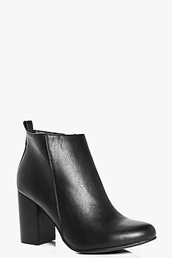 Layla Block Heel Ankle Boot