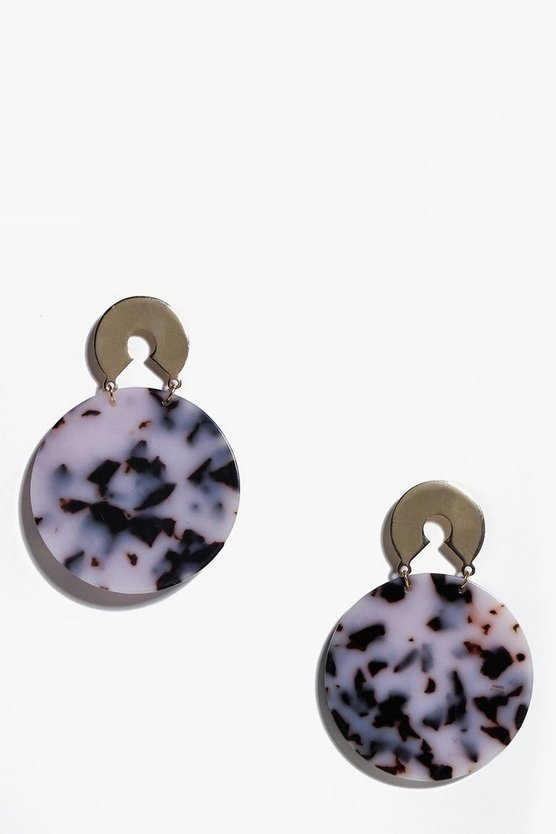 Neve Circle Patterned Earrings