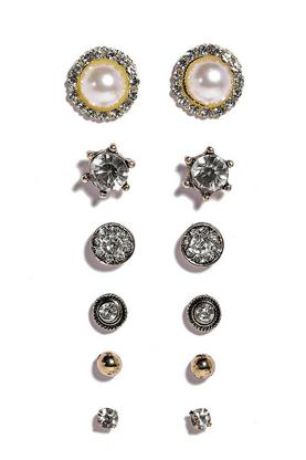 Lizzie Pearl Multi Pack Earrings