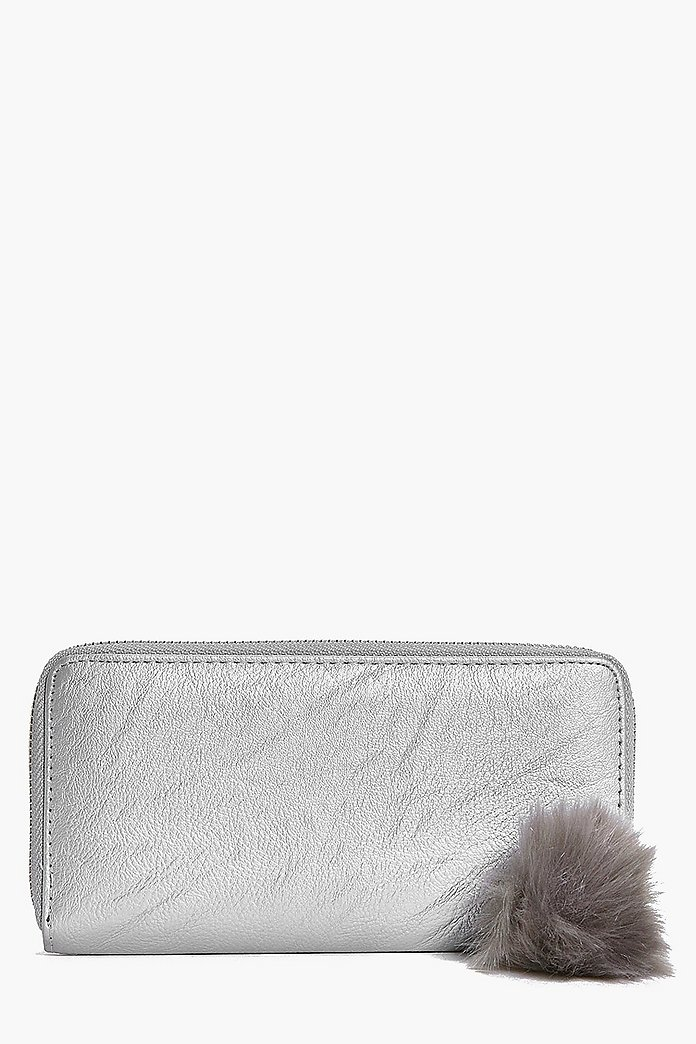 Aimee Metallic Pom Detail Purse