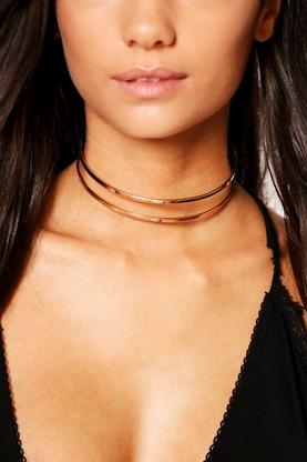 Darcy Double Layer Thin Metal Choker