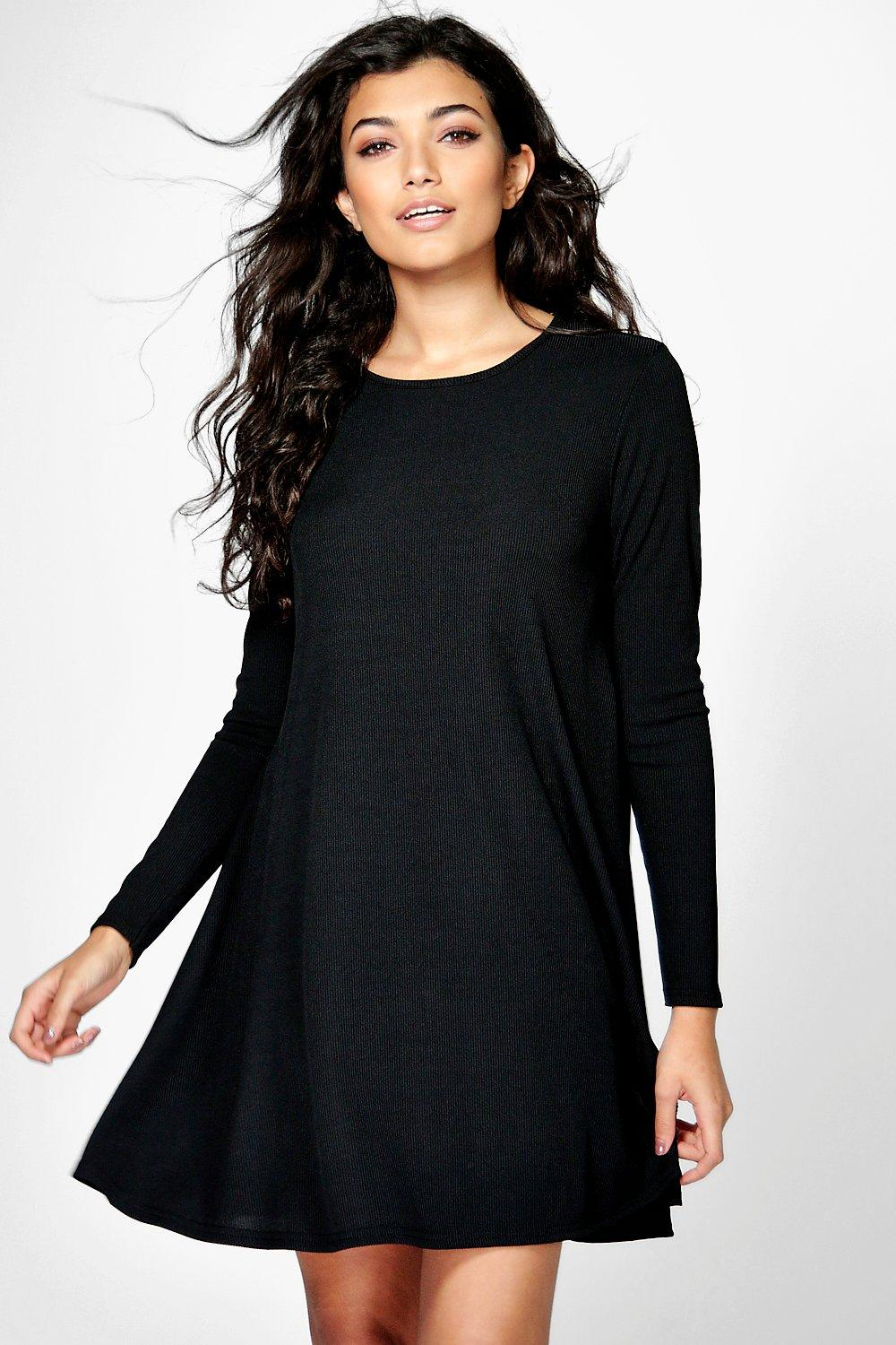Caroline Space Dye Fine Knit Swing Dress