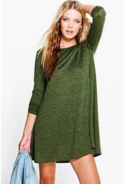 Poppy Marl Fine Knit Swing Dress
