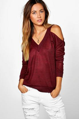 Alexis Cold Shoulder Knitted Top