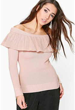 Harriet Ruffle Off The Shoulder Jumper