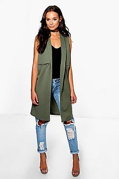 Holly Zip Detail Duster Coat