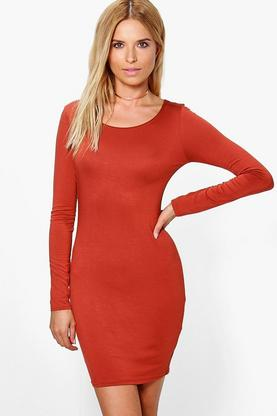 Osheanne Long Sleeved Bodycon Dress