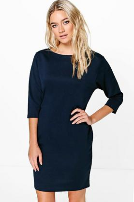 Jesca Crew Neck 3/4 Sleeved Bodycon Dress