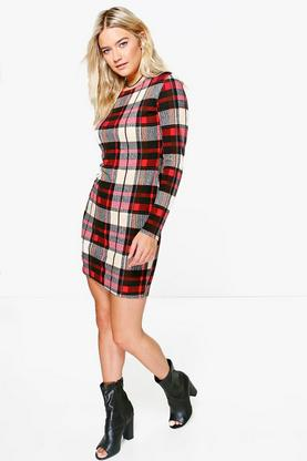 Saffron Tartan Bodycon Dress