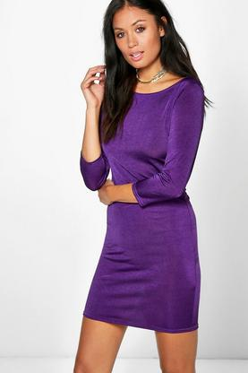 Geraldine 3/4 Sleeved Bodycon Dress