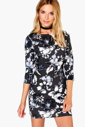 Donatella 3/4 Sleeved Bodycon Dress