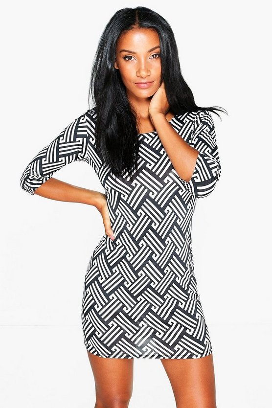 Mary 3/4 Sleeve Bodycon Dress