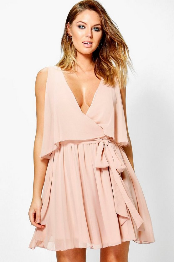 Callie Chiffon Double Layer Skater Dress