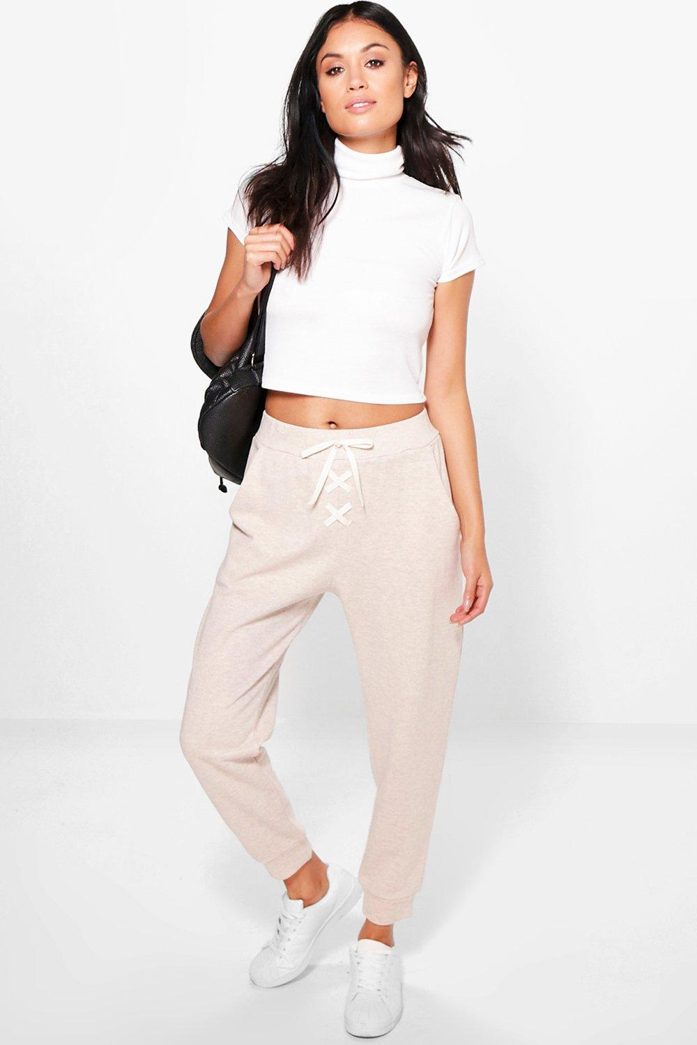 Ava Lace Up Loopback Joggers