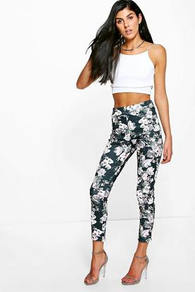 Elianna Autumnal Floral Skinny Trousers