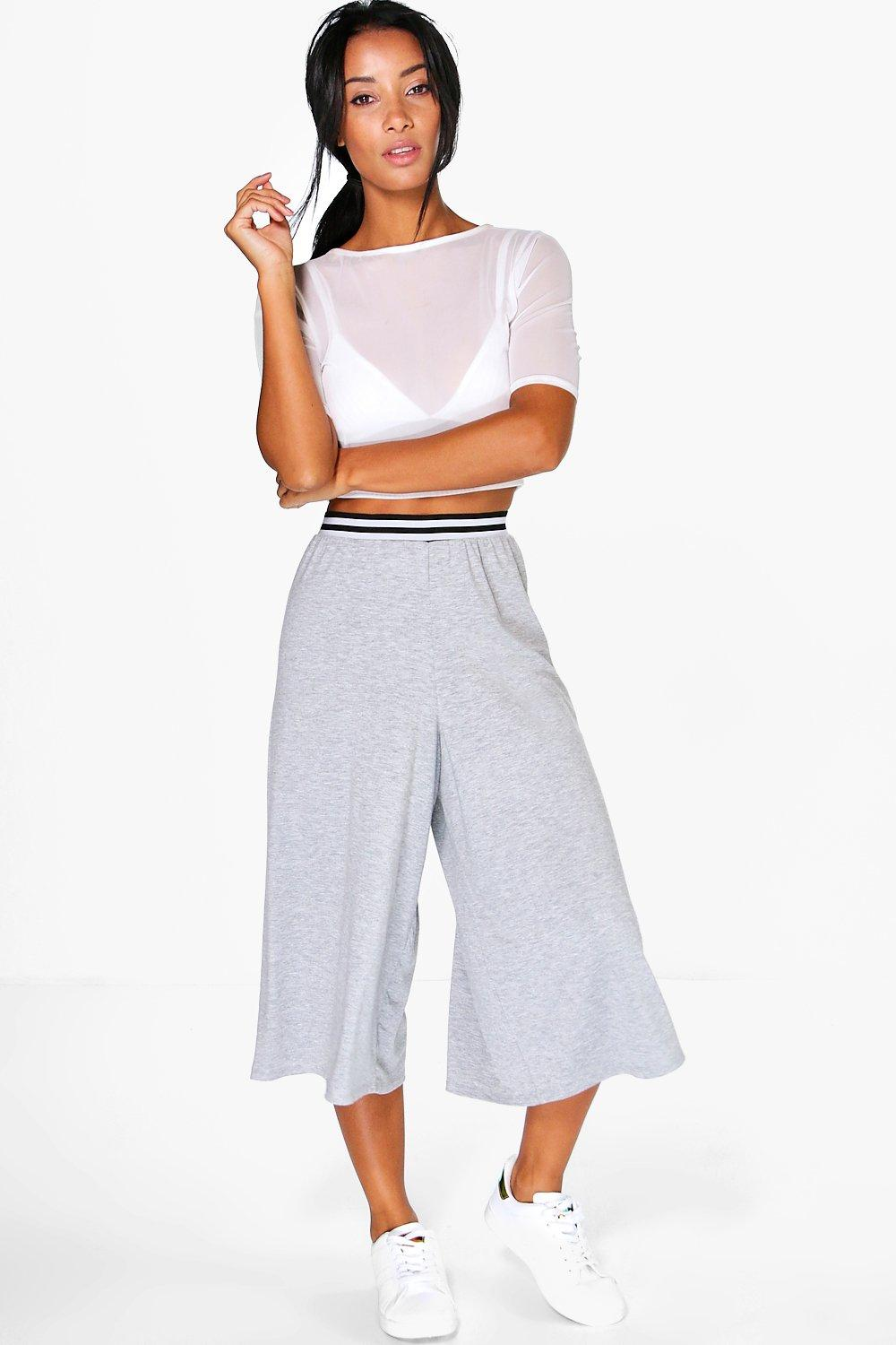 Diara Sporty Waistband Jersey Culottes