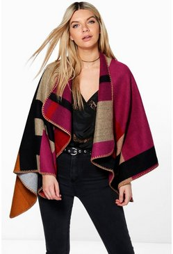 Florence Colour Block Cape
