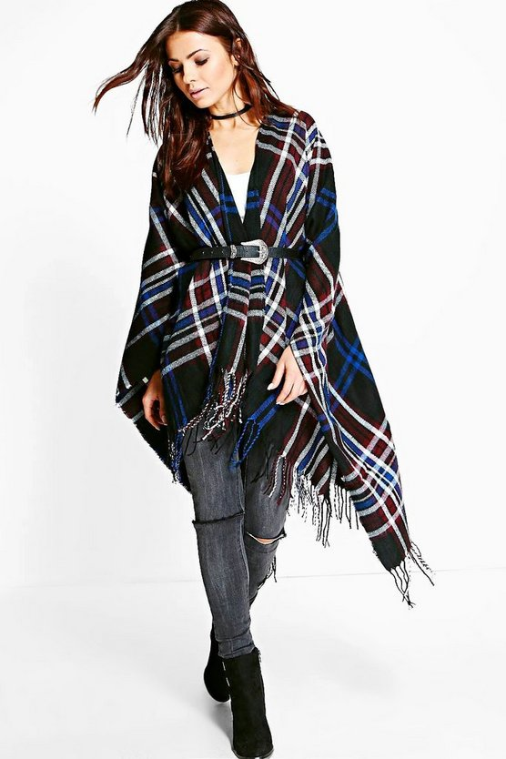 Georgia Check Cape