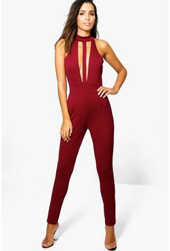 Sally Halter Neck Choker Jumpsuit