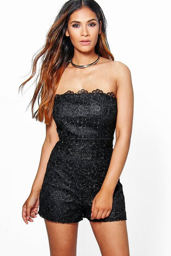Diana All Over Lace Bandeau Playsuit