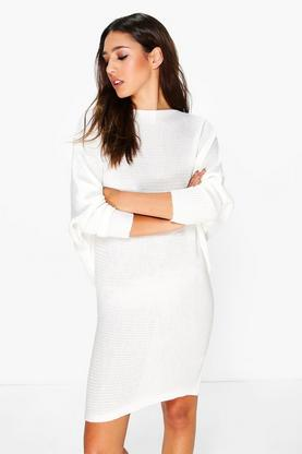 Lauren Rib Knit Batwing Dress