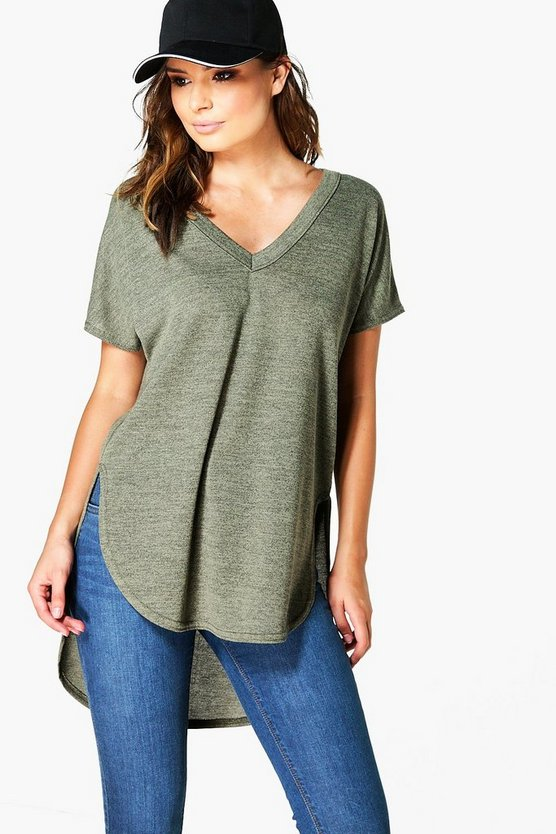 Lottie Oversized Marl Knitted T-Shirt