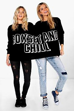 Iris Boxset & Chill Twin Jumper