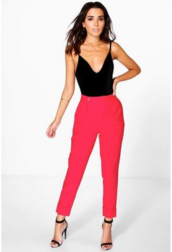 Ruby Ankle Grazer Pleat Front Woven Trousers