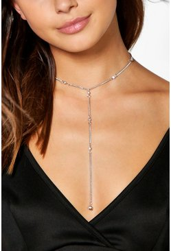 Lilly Multi Diamante Plunge Necklace