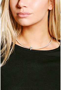 Tilly Diamante Tear Drop Stone Choker