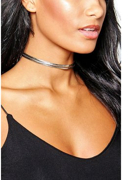 Evelyn Double Layered PU Choker