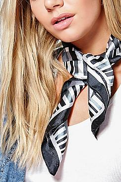 Amy Stripe Satin Neckerchief Bandana