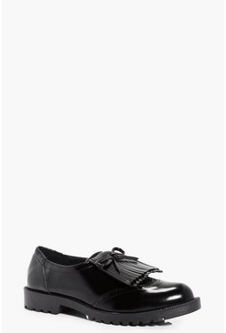 Ellie Fringed Bow Brogue