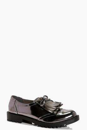 Kara Fringed Bow Brogue