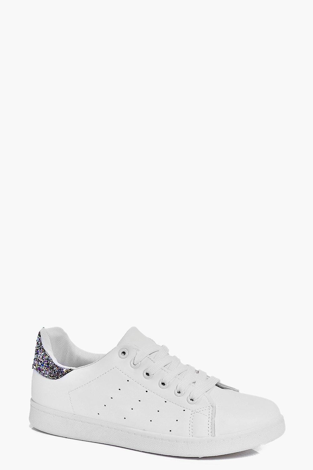 Clara Glitter Back Lace Up Trainer