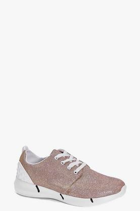 Lucy Metallic Stud Back Trainer