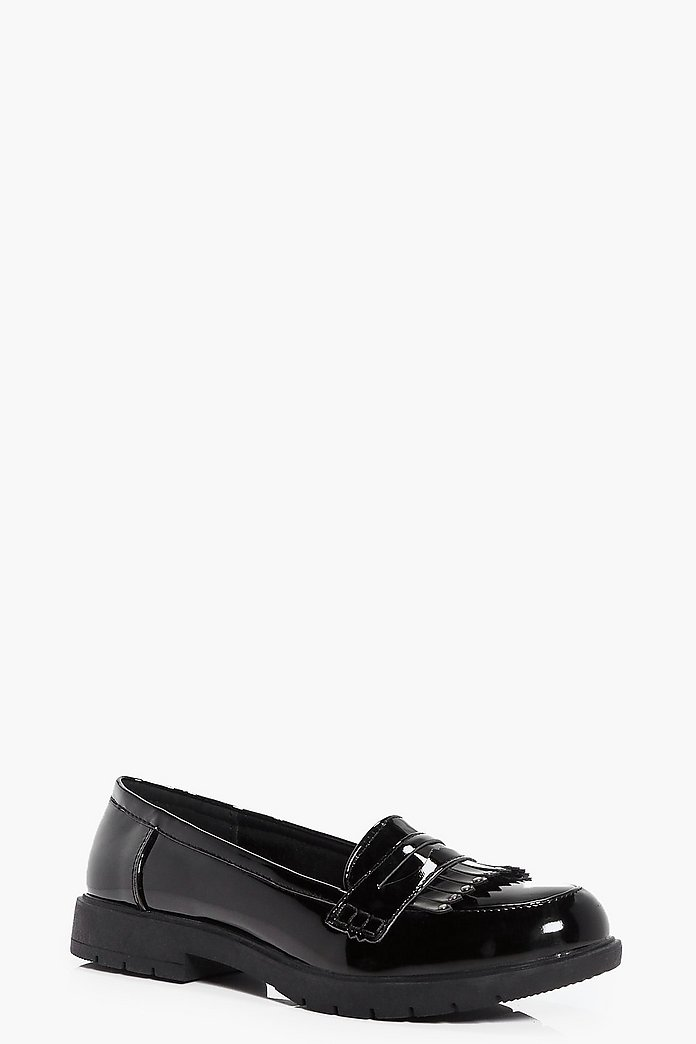 Nancy Stud And Fringe Trim Loafer